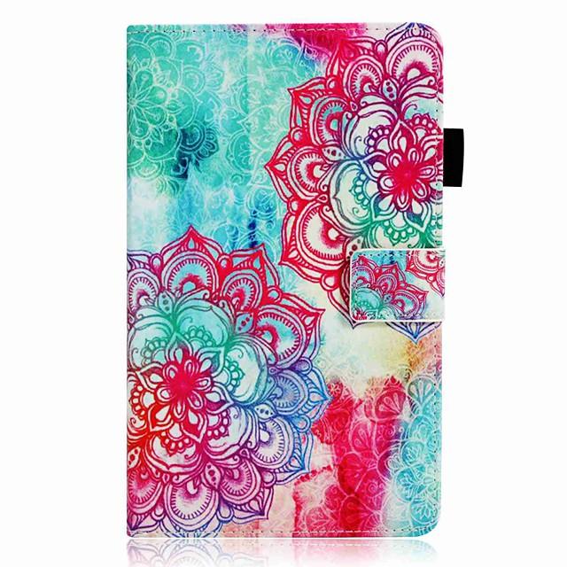 Coque Pour Huawei MediaPad M5 10 / Huawei MediaPad M3 Lite 10 Portefeuille / Porte Carte / Antichoc Coque Intégrale Fleur Dur faux cuir