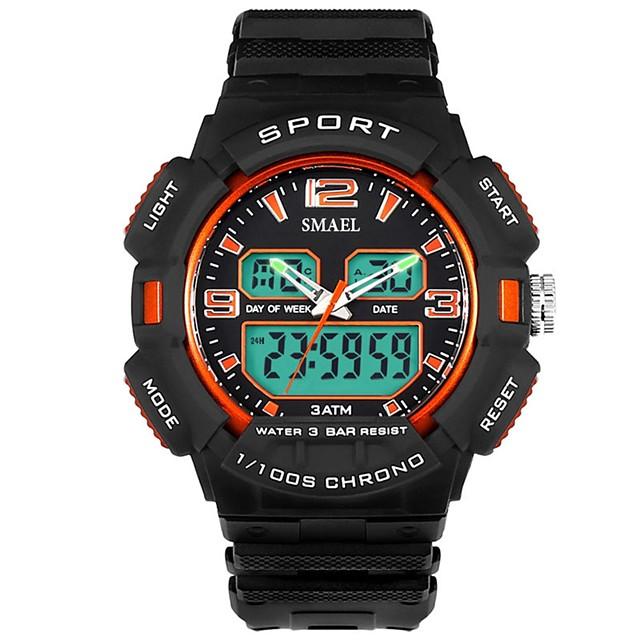 رجالي ساعة رياضية ساعة رقمية رقمي كاجوال مقاوم للماء تناظري-رقمي أبيض أحمر أزرق / رزنامه / الكرونوغراف / قضية