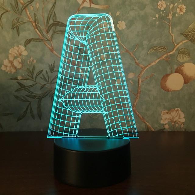 1pc Nightlight 3D Creative <=36 V