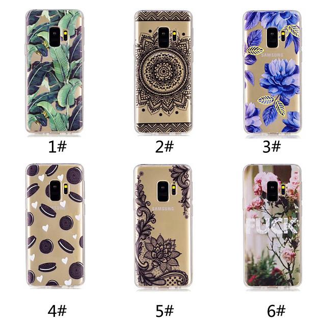 Etui Til Samsung Galaxy S9 / S9 Plus / S8 Plus Mønster Bakdeksel Mat / Ord / setning / Blonde Print Myk TPU