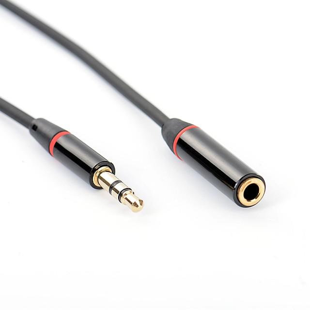 YONGWEI 3,5 mm lydstik Kabel / Forlængerkabel, 3,5 mm lydstik til 3,5 mm lydstik Kabel / Forlængerkabel Han - Hun Forgyldt kobber 1.0m (3ft)