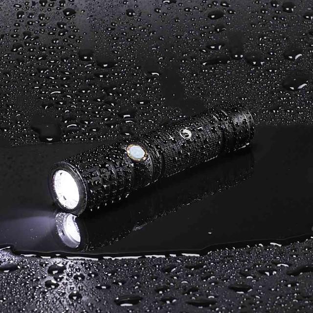 U'King Lanterne LED Reîncărcabil 2000 lm LED LED emițători 3 Mod Zbor cu Baterie și Adaptor Zoomable Reîncărcabil Focalizare Ajustabilă Camping / Cățărare / Speologie Utilizare Zilnică Multifuncțional