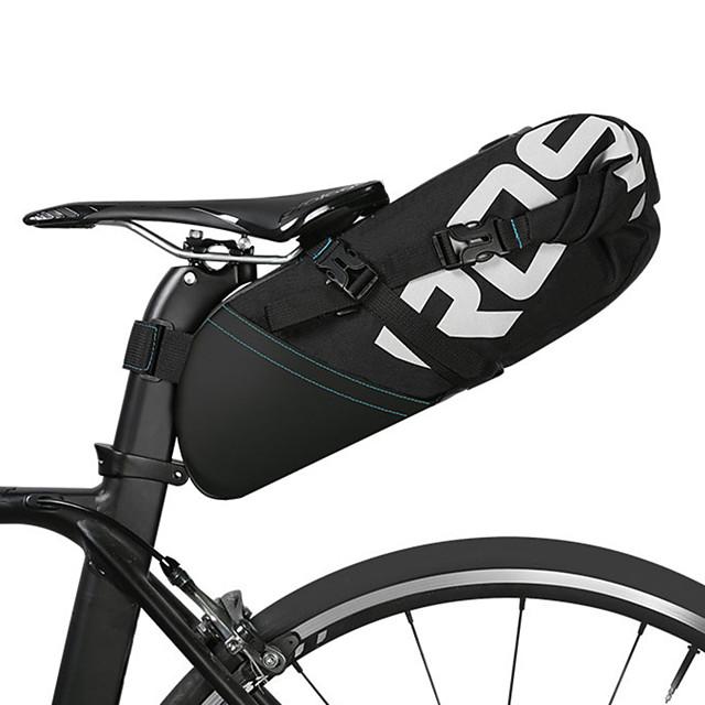 ROSWHEEL 8/10 L Bolsa para Guardabarro Reflexivo Ajustable Gran Capacidad Bolsa para Bicicleta Piel Poliéster Bolsa para Bicicleta Bolsa de Ciclismo Ciclismo Bicicleta