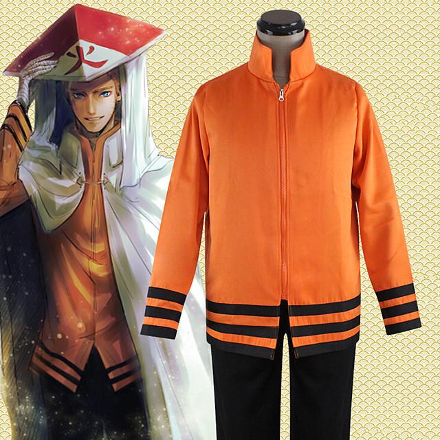 Inspiré par Naruto Hokage Naruto Uzumaki Boruto Manga Costumes de Cosplay Japonais Cosplay Hauts / Bas Classique Manches Longues Haut Pour Unisexe