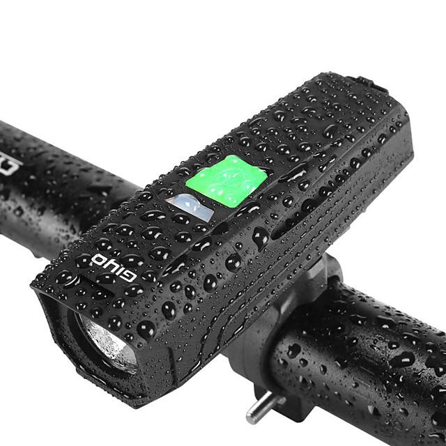 LED Eclairage de Velo Eclairage LED Eclairage de Vélo Avant Phare Avant de Moto VTT Vélo tout terrain Vélo Cyclisme Induction intelligente Super brillant Sécurité Grand angle Batterie rechargeable