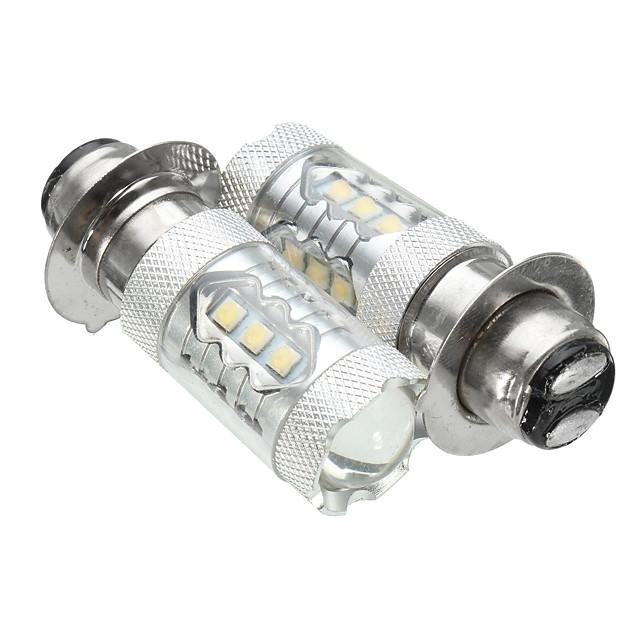 paire 10-30v px15d 16led 80w 6500k moto brouillard de conduite drl phare ampoule