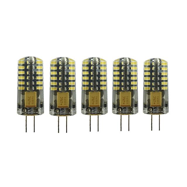 5pcs 3 W LED Bi-pin 조명 90-105 lm G4 T 48 LED 비즈 SMD 3014 러블리 따뜻한 화이트 차가운 화이트 12 V