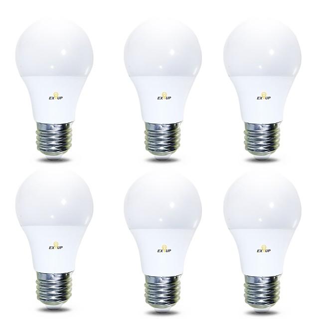 6本 7 W LEDボール型電球 680 lm B22 E26 / E27 14 LEDビーズ SMD 2835 温白色 クールホワイト 220-240 V 110-130 V