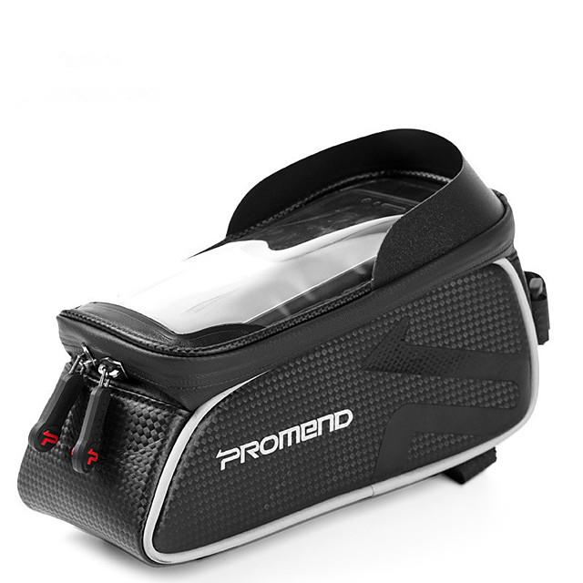 PROMEND حقيبة الهاتف الخليوي حقيبة دراجة الإطار 6 بوصة الشاشات التي تعمل باللمس ركوب الدراجة إلى أخضر iPhone X iPhone XR أسود للجنسين أخضر / الدراجة الدراجة / iPhone XS / iPhone XS Max