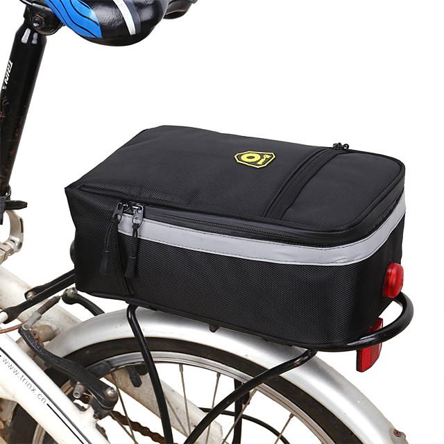 B-SOUL 5 L Borsa posteriore da bici / Portapacchi da bici Borse posteriori da bici Ompermeabile Portatile Estese Borsa da bici Poliestere Terylene Oxford Marsupio da bici Borsa da bici Ciclismo Bici