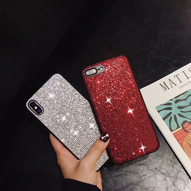 Funda Para Apple iPhone XS / iPhone XR / iPhone XS Max Antigolpes / Brillante Funda Trasera Brillante Suave Gel de sílice