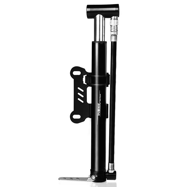 INBIKE 자전거 펌프 휴대용 경량 사이클링 초경량 재질 견고함 제품 도로 자전거 산악 자전거 싸이클링 알루미늄 합금 블랙