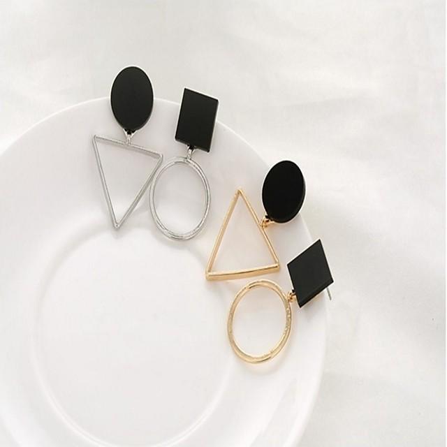 여성용 미스매치 귀걸이 둥근 예술적 귀걸이 보석류 골드 / 실버 제품 일상 1 쌍