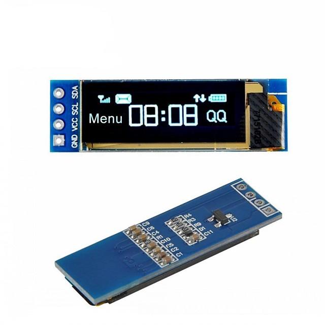 i2c oled display modul 0.91 inch i2c ssd1306 oled blå skærm driver dc 3.3v5v for arduino