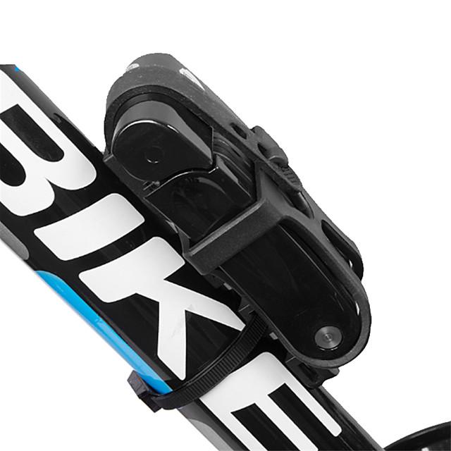 FirtySnow Cadenas de Vélo Pliant Portable Pliable Sécurité verrouillage de sécurité Durable Pour Vélo de Route Vélo tout terrain / VTT Cyclisme Acier inoxydable Noir