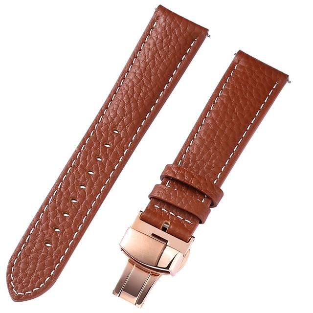 Prawdziwa skóra / Skóra / Sierść cielęca Watch Band Brązowy 20cm / 7.9 cala 1cm / 0.39 cala / 1.2cm / 0.47 cala / 1.3cm / 0.5 cala