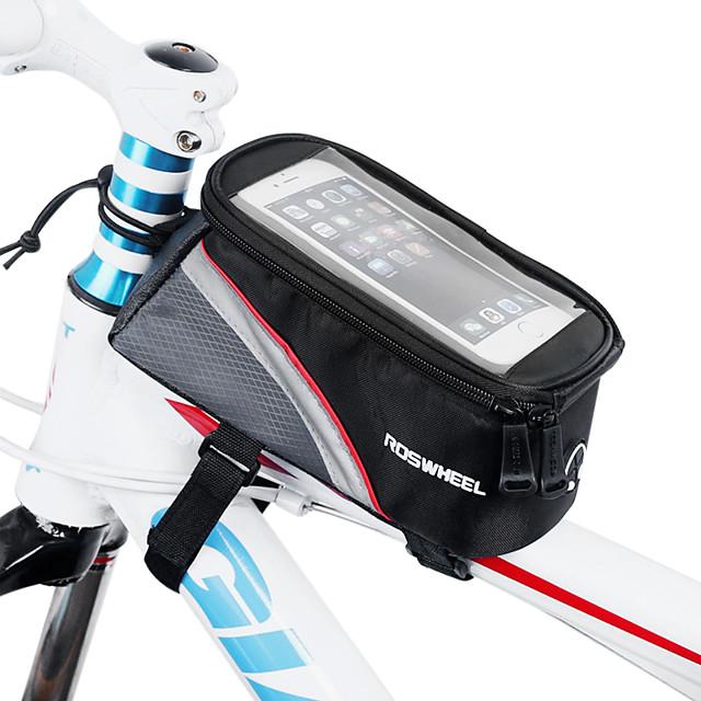 ROSWHEEL Bolsa Celular Bolsa para Quadro de Bicicleta 4.2 polegada Sensível ao Toque Ciclismo para iPhone SE / 5s / 5 iPhone X iPhone XR Vermelho Verde Azul Ciclismo / Moto / iPhone XS