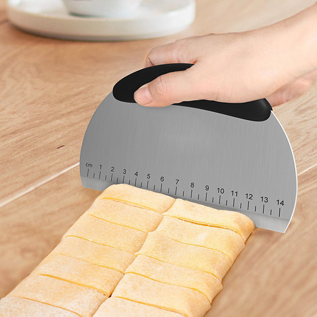 1db Műanyag Rozsdamentes acél Mert főzőedények Kör péksütemények kések Bakeware eszközök