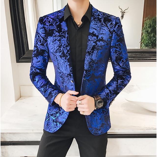 Coolred-Men Set 3-Piece Britain Bodycon Formal Suit Coat Blazer