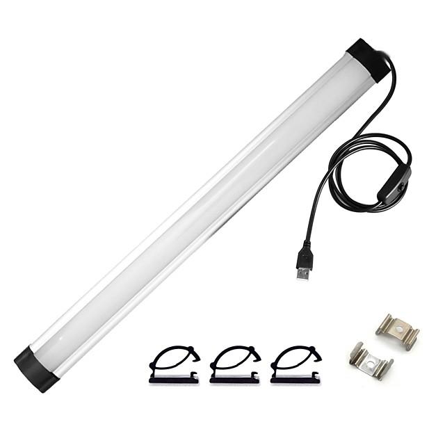 0.3M قضبان أضواء LED الصلبة 24 المصابيح 5630 SMD 1 مجموعة تركيب قوس 1SET أبيض دافئ أبيض كول يو اس بي تصميم جديد مناسبة للالسيارات USB آلي ب / IP44