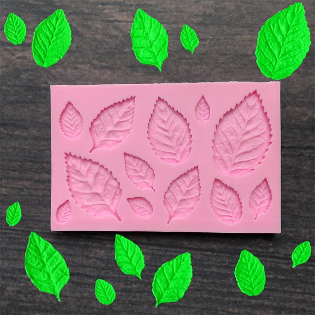blad silikon form fondant mögel kaka dekorationsverktyg choklad mögel bakform