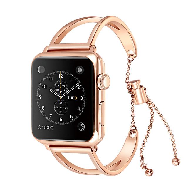 Cinturino intelligente per Apple  iWatch 1 pcs Stile dei gioielli Acciaio inossidabile Sostituzione Custodia con cinturino a strappo per Apple Watch Serie SE / 6/5/4/3/2/1 38 millimetri 42 millimetri