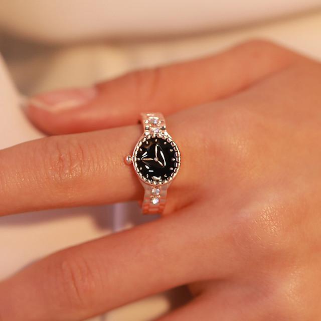 للنساء خاتم قديم ذهبي فضي تقليد الماس سبيكة بانغك الكورية 1PC 6 7 8 9 / نسائي