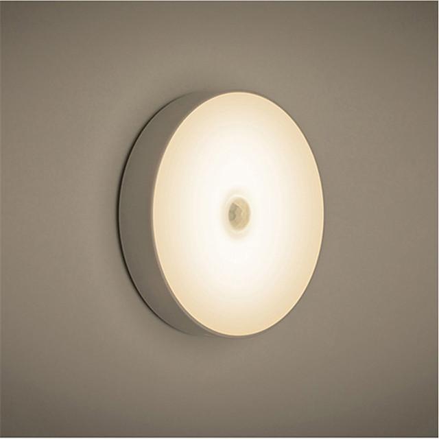 LED Night Light Rechargeable Capteur de corps humain Décoration USB 1pc