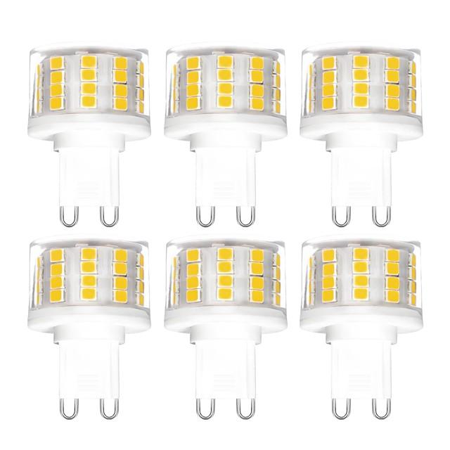 6PCS 5 W LED Bi-pin 조명 500 lm G9 T 52 LED 비즈 SMD 2835 밝기조절가능 따뜻한 화이트 차가운 화이트 내추럴 화이트 200-240 V