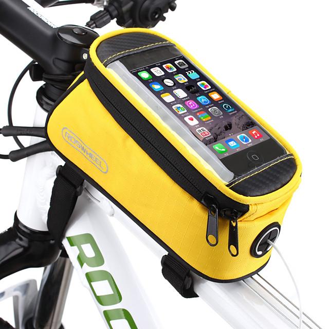 ROSWHEEL Telefon mobil Bag Genți Cadru Bicicletă 4.8/5.5 inch Ecran tactil Impermeabil Ciclism pentru Samsung Galaxy S6 LG G3 Samsung Galaxy S4 Albastru / Negru Galben Rosu Ciclism / Bicicletă