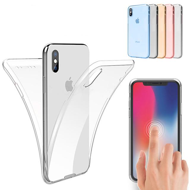 Кейс для Назначение Apple iPhone 12 / iPhone 12 Mini / iPhone 12 Pro Max Защита от удара / Ультратонкий / Прозрачный Чехол Однотонный Мягкий ТПУ
