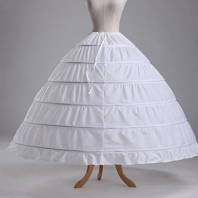 Années 50 Jupon Tutu Sous jupe Crinoline Femme Coton Costume Blanche / Noir / Violet Vintage Cosplay Soirée Utilisation Festival Princesse