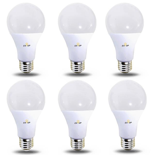 EXUP® 6pcs 12 W Bulb LED Glob 1180 lm B22 E26 / E27 28 LED-uri de margele SMD 2835 Alb Cald Alb Rece 220-240 V 110-130 V