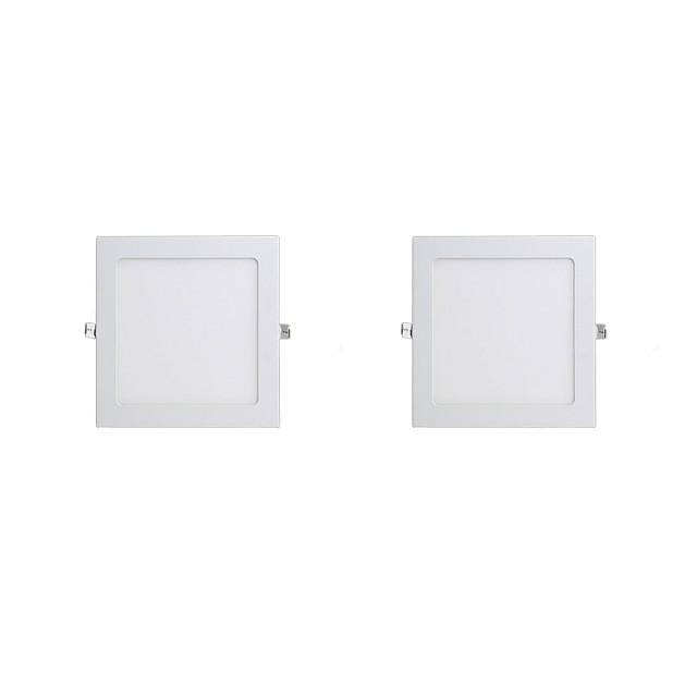 2pcs 3 W 240 lm 15 Perles LED Installation Facile Encastré LED Encastrées Blanc Chaud Blanc Froid 220-240 V Commercial Maison / Bureau Chambre / CE