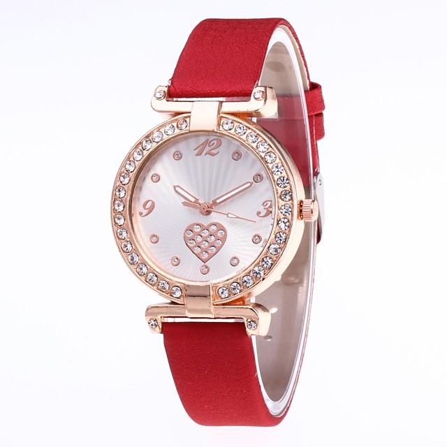 Pentru femei Ceas Brățară Quartz Stil Inimă Stl Heart Shape Ceas Casual Analog Alb Negru Mov / Un an / PU piele / Un an / Jinli 377