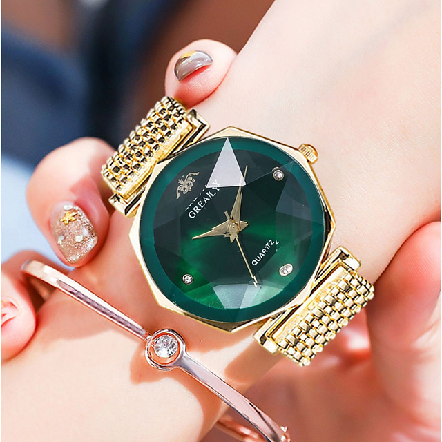 Dames Polshorloge Gouden Horloge Kwarts Vintage Waterbestendig Analoog Zwart / Goud Rose Wit Paars / Roestvrij staal / imitatie Diamond