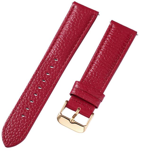Cuir véritable / Cuir / Poil de veau Bracelet de Montre  Rouge 17cm / 6,69 pouces / 18cm / 7 Pouces / 19cm / 7.48 Pouces 1cm / 0.39 Pouces / 1.2cm / 0.47 Pouces / 1.3cm / 0.5 Pouces