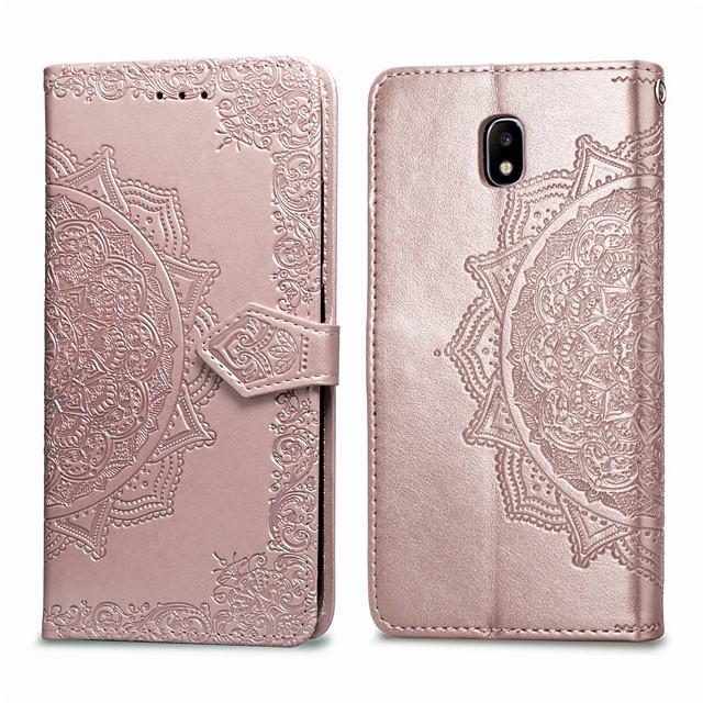 Case Kompatibilitás Samsung Galaxy J3 (2017) Kártyatartó / Flip Héjtok Egyszínű Puha PU bőr