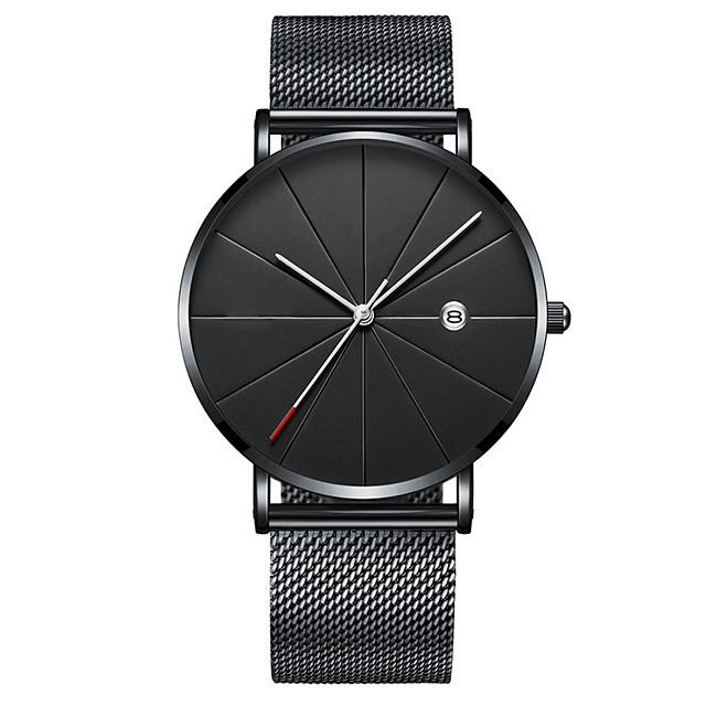 Bărbați Ceas Elegant Quartz Lux Calendar Analog Auriu+Negru Roz auriu Negru / Un an / Oțel inoxidabil