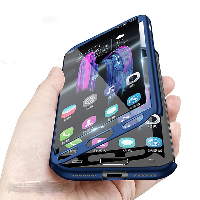 Etui Käyttötarkoitus Samsung Galaxy A8 2018 / A8 / A7 Iskunkestävä Suojakuori Yhtenäinen Kova PC