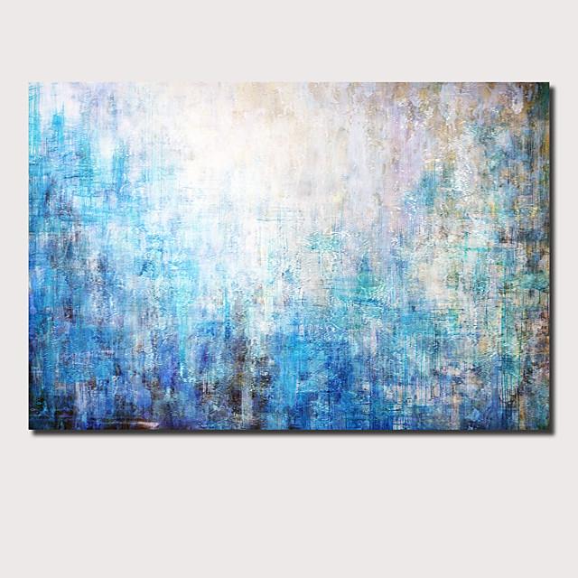 Peinture à l'huile Hang-peint Peint à la main Panoramique horizontal Abstrait Paysage Contemporain Moderne Inclure cadre intérieur