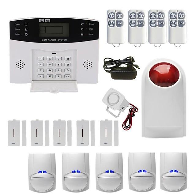 Tarjeta de teléfono móvil con alarma antirrobo inalámbrica gsm sistema de alarma de casa y ventana de infrarrojos para el hogar sistema de alarma / alarma de host / sensor de puerta y ventana gsm andr