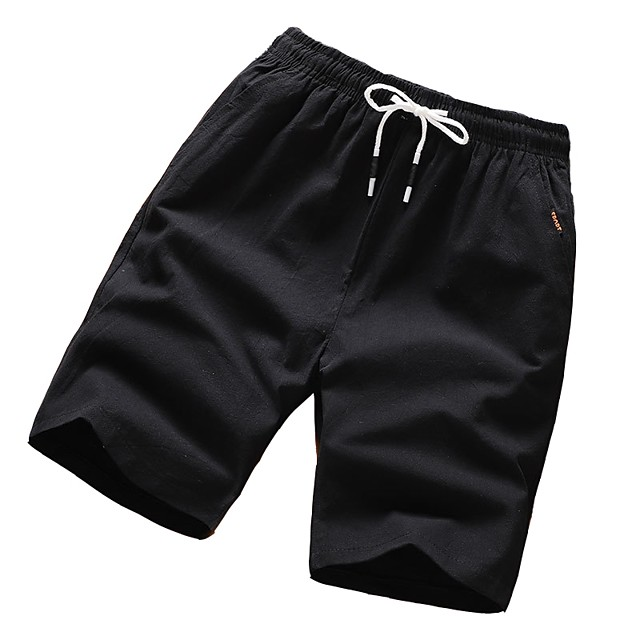 Men's Basic Plus Size Chinos Shorts Pants Solid Colored Black Army Green Gray