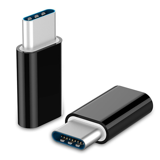 LIFETONE USB 3.1 Typ C Adapter, USB 3.1 Typ C nach Micro USB 3.0 Adapter Male - Female 1080P Vernickelter Stahl 0,05m (0.15Ft) 5.0 Gbps