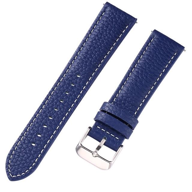 Cuir véritable / Cuir / Poil de veau Bracelet de Montre  Bleu 17 cm / 6,69 pouces / 18 cm / 7 pouces / 19 cm / 7,48 pouces 1 cm / 0,39 pouces / 1,2 cm / 0,47 pouces / 1,3 cm / 0,5 pouces