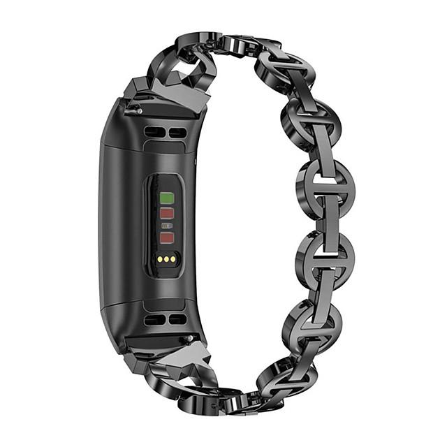 حزام إلى Fitbit Charge 3 فيتبيت عصابة الرياضة / تصميم المجوهرات ستانلس ستيل شريط المعصم