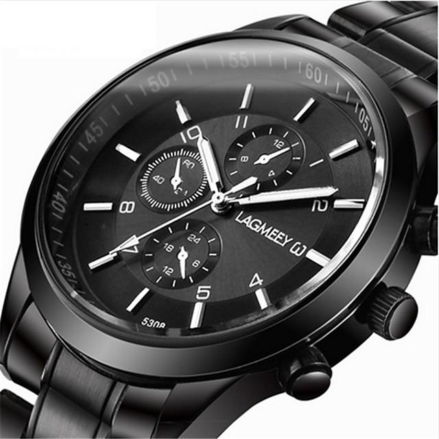 Erkek Spor Saat Elbise Saat Bilek Saati Quartz Lüks Yaratıcı Analog Beyaz Siyah Kırmzı / Bir yıl / Paslanmaz Çelik
