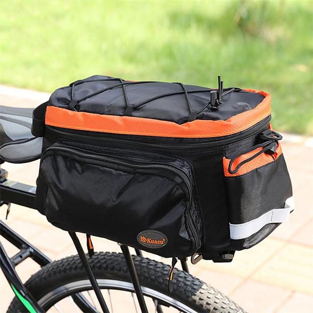 10 L Sac de Porte-Bagage / Double Sacoche de Vélo Etuis de Sac Etanche Poids Léger Absorption des chocs Sac de Vélo Térylène Nylon Sac de Cyclisme Sacoche de Vélo