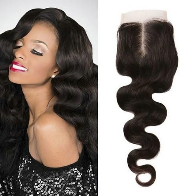 1 Bundle Tissage de cheveux Cheveux Brésiliens Ondulation naturelle Extensions de cheveux Naturel humains Cheveux Naturel Rémy Accessoires pour Perruques Trame cheveux avec fermeture 8-20 pouce