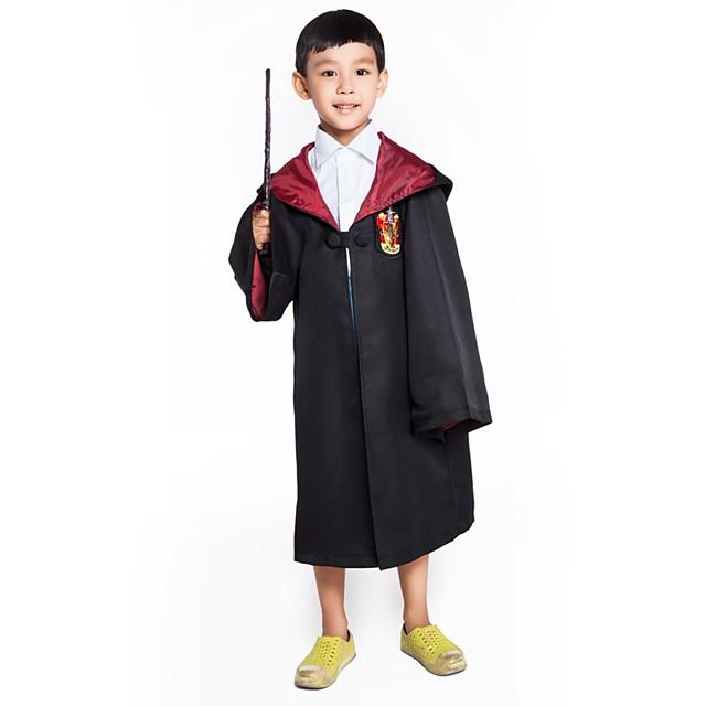 Cosplay Harry James Potter Magic Harry Rohkelikko Viitta Unisex Elokuva Cosplay Keltainen / Punainen / Sininen Viitta tekstiili Tekstiili